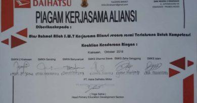 SMK ZAINUL HASAN Tanda Tangani Kerjasama Dengan DAIHATSU
