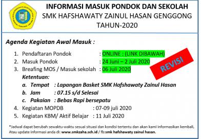 INFORMASI DATA PENDAFTAR TAHUN 2020